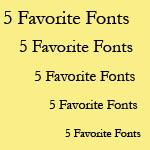 Любимите шрифтове на Joel Friedlander за дизайн на книжното тяло
